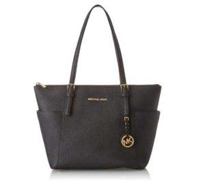 Womens Leather Top Handle Shoulder Handbag Fingerprint Large Work Tote Bag